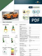 Subaru Xv Datasheet 2012