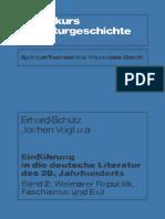 Einf%C3%BChrung in Die Deutsche Literatur Des 20. Jahrhunderts_ Band 2_ Weimarer Republik%2C Faschismus Und Exil