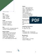 Conversion Sheets