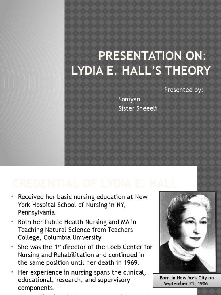 lydia hall theory application