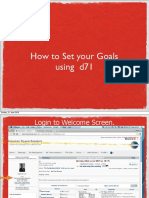 How to Set Your Goal Using d71