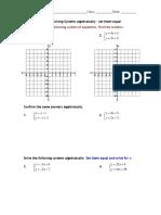 solve systems algebraically hw3 a