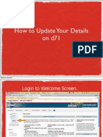 How to UpdateDetails on d71
