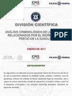 ANALISIS CRIMINOLOGICO DE LOS SUCESOS RELACIONADOS POR EL INCREMENTO AL PRECIO DE LA GASOLINA