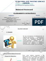 Balanced Scorecards Planeamiento