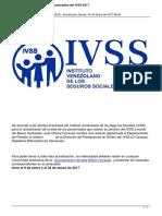 Actualizacion de Datos de Pensionados Del Ivss 2017