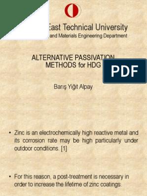 Passivation With Trivalent Chromium | Chromium | Fluoride