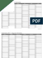 Calendario 2017 Semestral Blanco