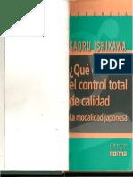 Que Es El Control Total de La Calidad - Kauro Ishikawa.