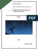 Manual Sobre Como Realizar Una Vigilancia Ovni Actualizado