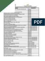 Listado e.e No Oficiales Sin Autoevaluacion
