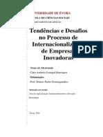 Tendências e Desafios No Processo de Internacionalização de Empresas Inovadoras - Cátia Henriques