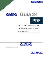 Guia RELACRE 24 Calc U Calib Volumetrico