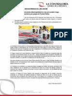 NP03 (10.01.17) Contraloría General Alerta a Municipalidad de Lima Por Posible Riesgo Económico Por Peajes de Puente Piedra