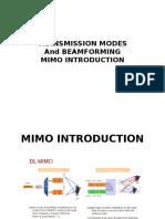 Transmission Modes and Beamforming