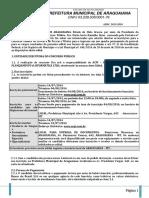 Pref de Araguaiana - MS - Edital 2014