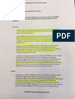 The Trump Russia Dossier as Released By Buzzfeed