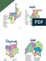 Mapas de Los 22 Departamentos de Guatemala