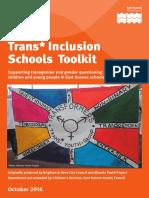 East Sussex Schools Transgender Toolkit