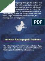 Self Study Intraoral Anatomy radiology