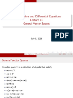 LADE11 General Vector Spaces