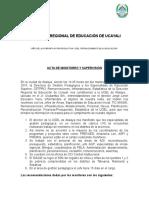Acta de Inspección y Supervisión a La Ugel Atalaya_2015