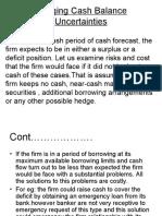 Hedging Cash Balance Uncertainties