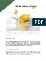 12 Awesome Uses of Lemon