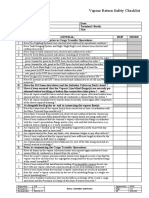 19.Vapour Return Safety Checklist