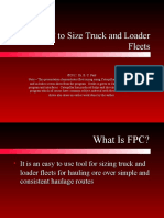 1 Using FPC to Size Truck and Loader Fleets