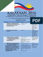 Kalay a an Activities 2016