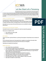 Version 2 June 2016 Security Bond at the Start of a Tenancy
