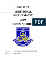 Project Add Math 2010 Index Number