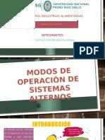Modos de Operacion de Sistemas Alternos