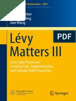 Björn Böttcher, René Schilling, Jian Wang Auth. Lévy Matters III Lévy-Type Processes Construction, Approximation and Sample Path Properties