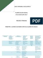 Planificacion Anual 3ro Primaria