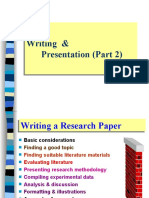 Writing & Presentation For Research