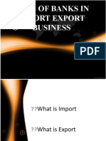 Role of Banks in Import Export Buiness