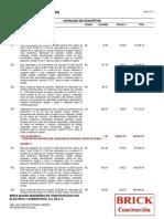 Catalogo de Conceptos Torre Renta y Agwa