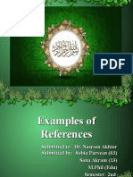 Ch 7 Examples of References