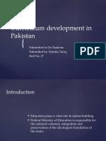 Curriculum Development in Pakistan