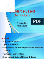 Standards based Curriculum