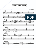 That's the Way - Tenor Sax