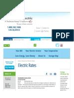 West Florida El Coop Assn, Inc - 2017 Electric Rates