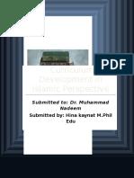Curriculum Development in Islamic Perspective