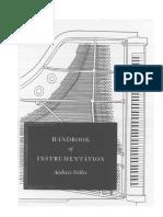 Handbook of instrumentation by Andres Stiller - Portada, contenido y prefacio