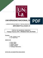 Informe Tp Nº3 - Análisis de Lácteos (Final)
