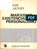 LIBRO - Marxismo, Existencialismo, Personalismo