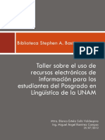 Taller de recursos electrónicos de linguistica