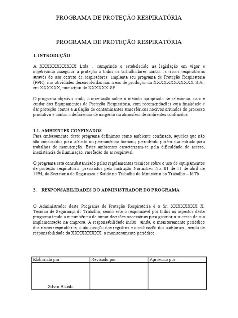 1293964226063 PPR-PROGRAMA DE PROTEÇÃO RESPIRATÓRIA PPR